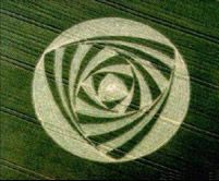Mysterious crop circle